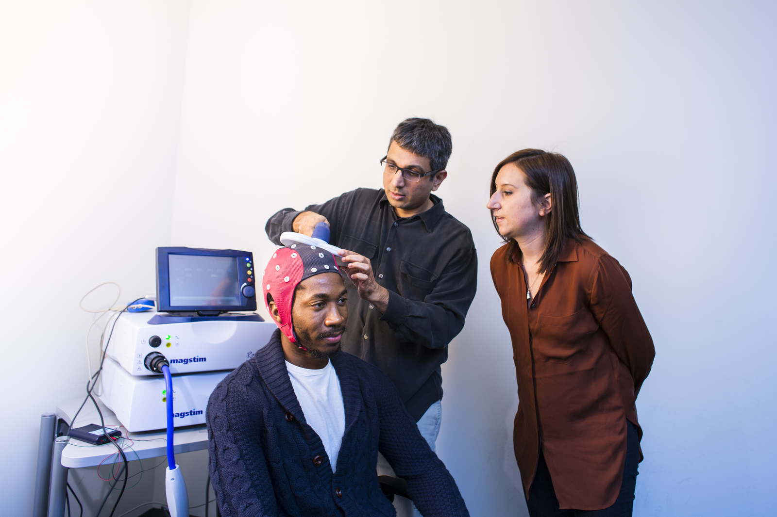 UC Merced researcher brain mapping subject